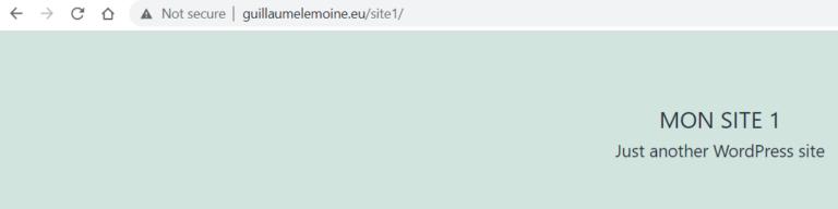 Mon Domaine sur Site 1