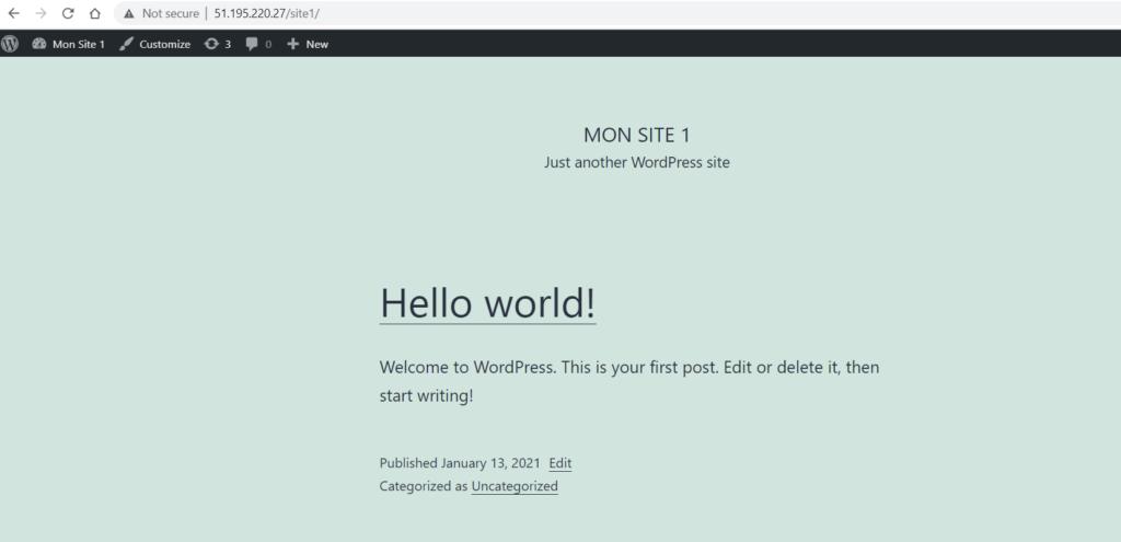 Mon Site WordPress
