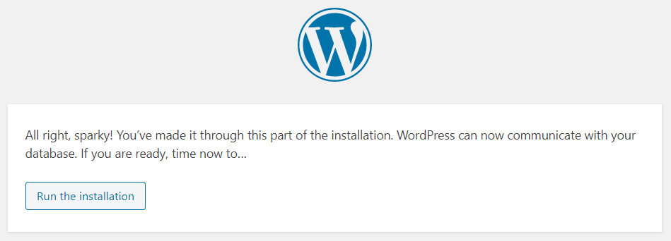 Installation WordPress